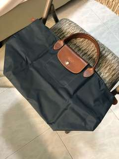 Longchamp Le Pliage Blue Gray Medium