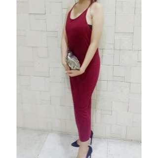 Long Red Dress With Slit