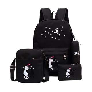 Backpack miaw satu paket