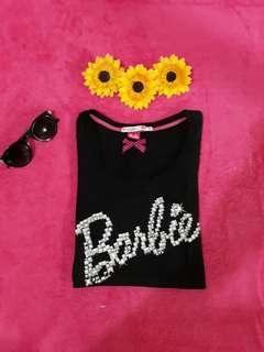 Uniqlo Barbie Black Top / Blouse