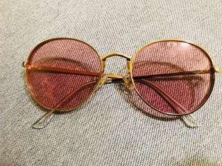 🚚 超時尚金邊墨鏡-玫瑰紅