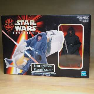Star Wars EP1 Sith Speeder And Darth Maul