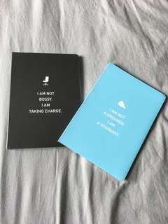 Notebook/Diary with fun quotation in front