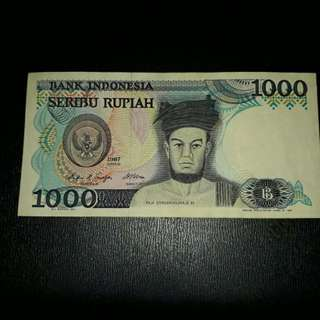 Vintage Indonesia Currency (1987)