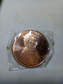 純銅林肯幣(摩根大小)