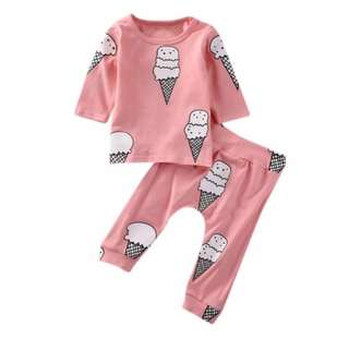 P/O baby cotton sleepwear set