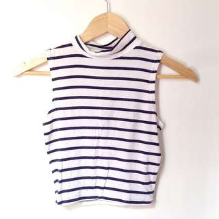 Cotton on stripes crop top