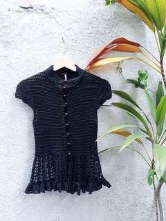 Crochet Black Top