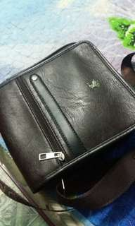 Polo leather sling bag ori