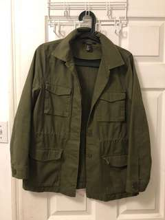 Forever 21 green jacket