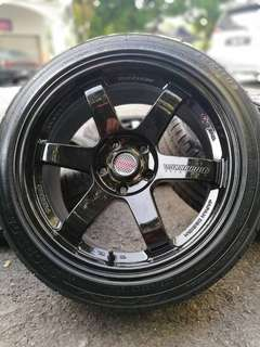 *below market* te37rt 17 inch sports rim civic fb new tyre. Lepak tanjung rambutan makan ciku, ini rim ngam ngam for you!!!