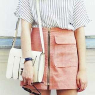 Korean Ulzzang Front Zip Skirt