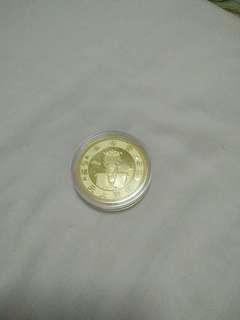 佛像加持K金錢幣