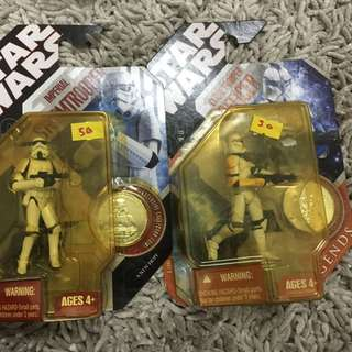 Star Wars 30th Anniversary Imperial Stormtrooper w Coin
