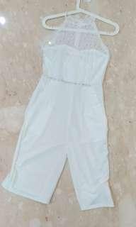 White Lace Halter Jumpsuit #maupulsa