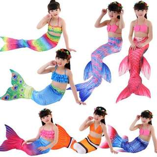 Baby Mermaid Kids Girl Swimming Costume swimwear