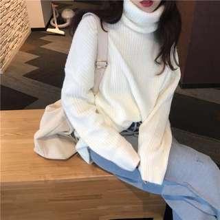 🚚 (全新)高領針織毛衣