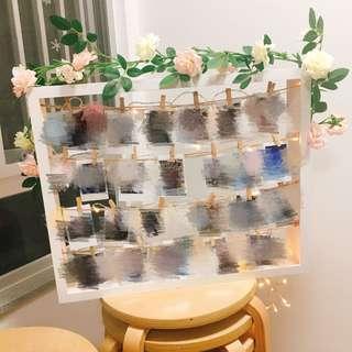 自製婚禮結婚百日宴滿月酒即影即有相架連花連燈