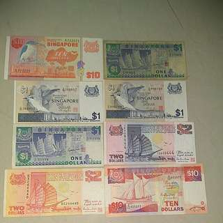 Singapore notes with nice number