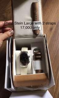 Philip Stein Large Chrono Watch