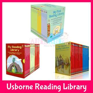 ★CHEAPEST w DELIVERY★50 or 40 Books Set★Usborne My First/Second/Third Reading Library★Collection for Confident Readers★English Phonics Story Books★Kids Children Birthday Xmas Gift★Preschool Kindergarten Non Fiction English Phonics
