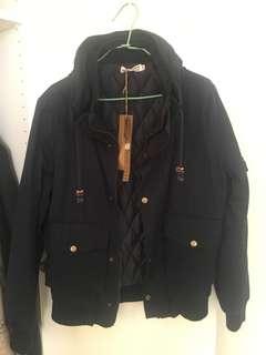 🚚 經典潮流 深藍色軍裝太空領飛行外套 多口袋設計 硬挺質料設計 舒適好穿 有型百搭 超好看