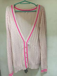 Marks and Spencer Pink Polkadot Cardigan