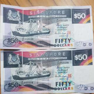 Boat series $50 note