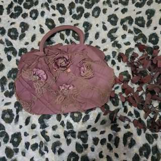 Purple floral purse from Japan