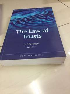 Trust law  - JE Penner