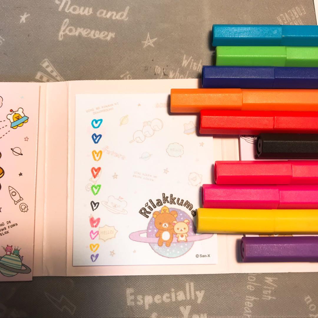 六角水性筆十色套組 無印良品muji