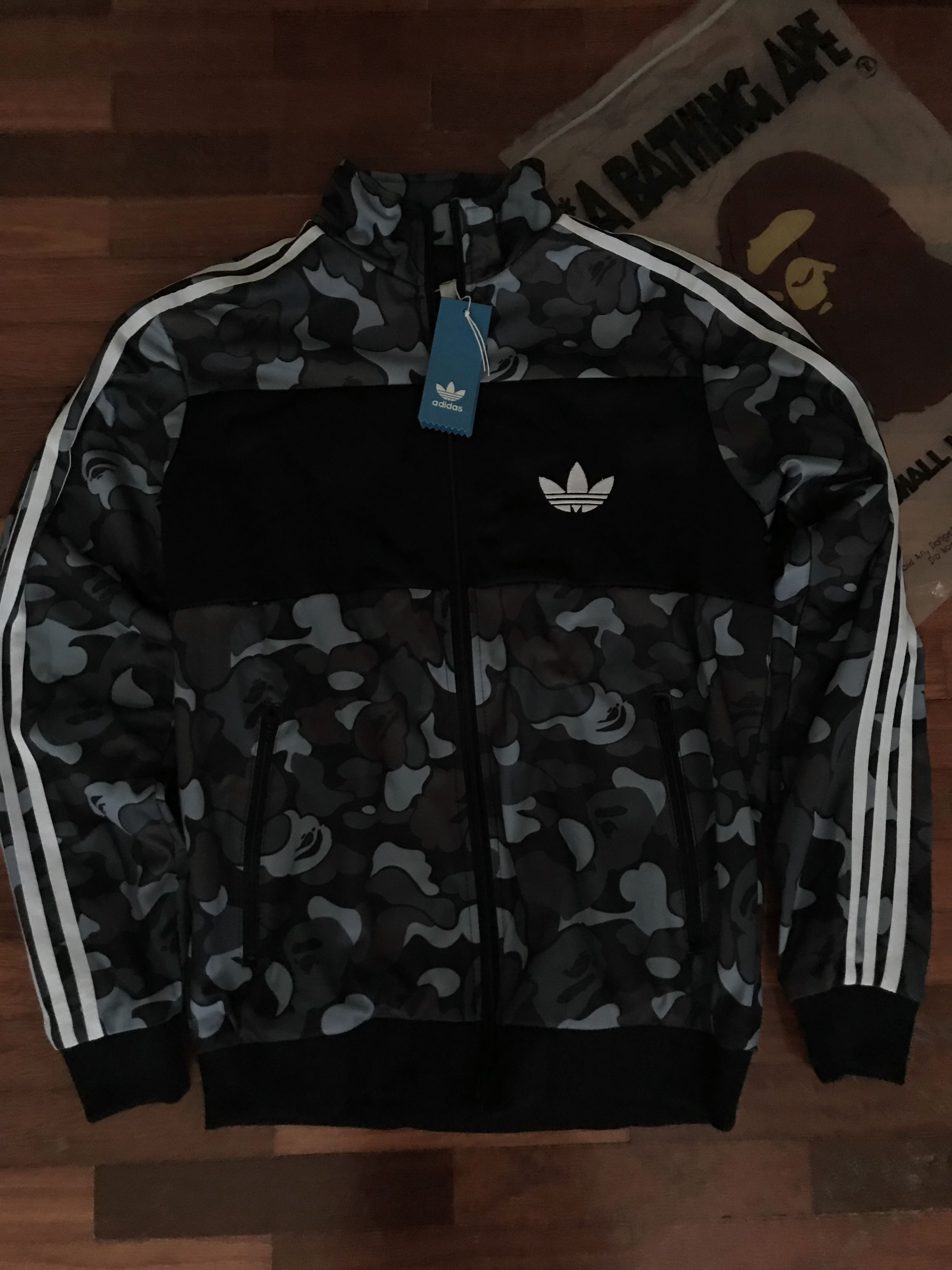 407c81e1 Adidas Bape Firebird Jacket (READY STOCK), Men's Fashion, Clothes on  Carousell