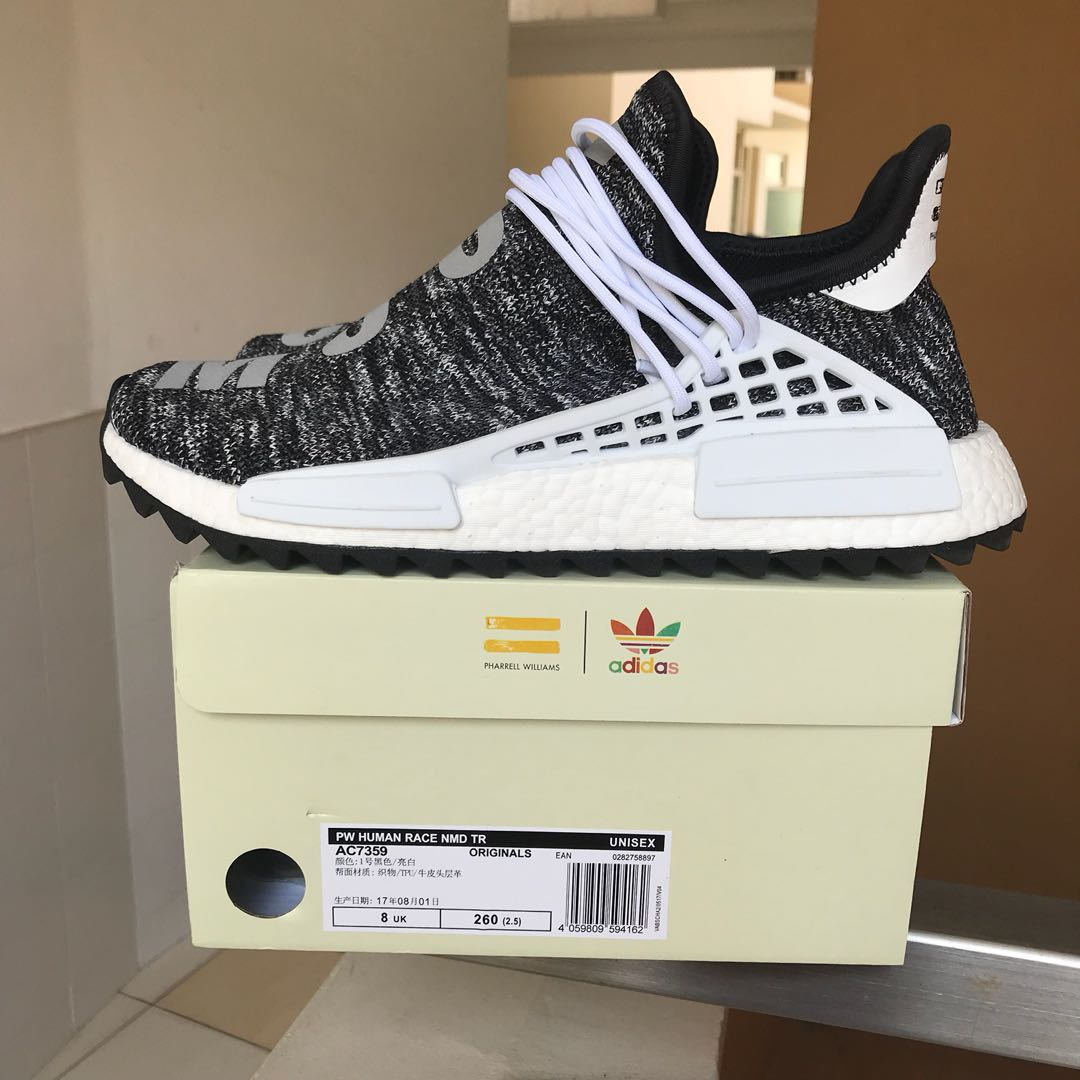 brand new 8697e 2a5d3 Adidas NMD Hu Oreo Pharrell 8.5US, Men's Fashion, Footwear ...