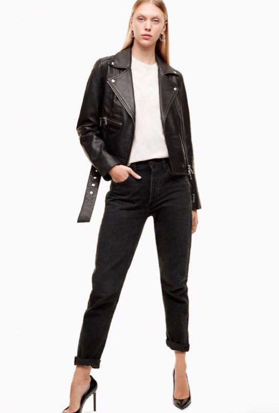 Aritzia AGOLDE High Rise Black Fade Jeans