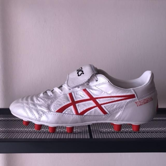 ca6331cfb Asics Testimonial Light FG Pearl / Red, Sports, Athletic & Sports Clothing  on Carousell