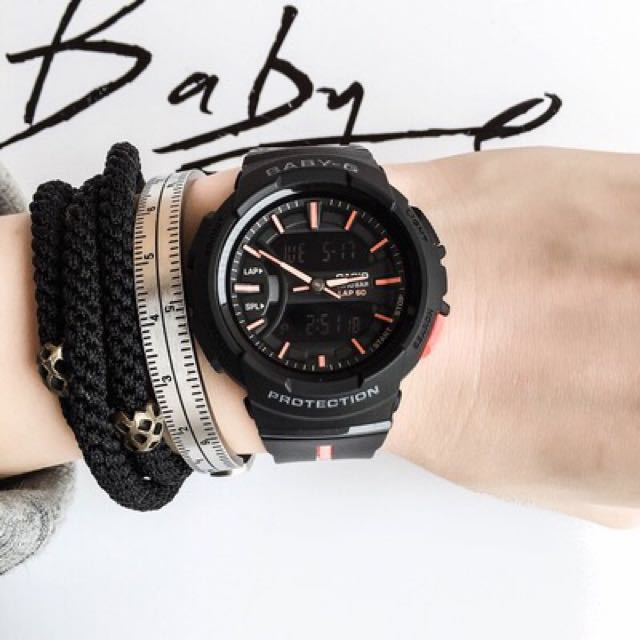 0aa438b685 Authentic Brand New Casio Baby-G Running Series BGA-240L-1A Black Neon  Orange Ladies Sports Watch BGA-240L BGA240L BGA240L-1 BGA240L-1A BGA240