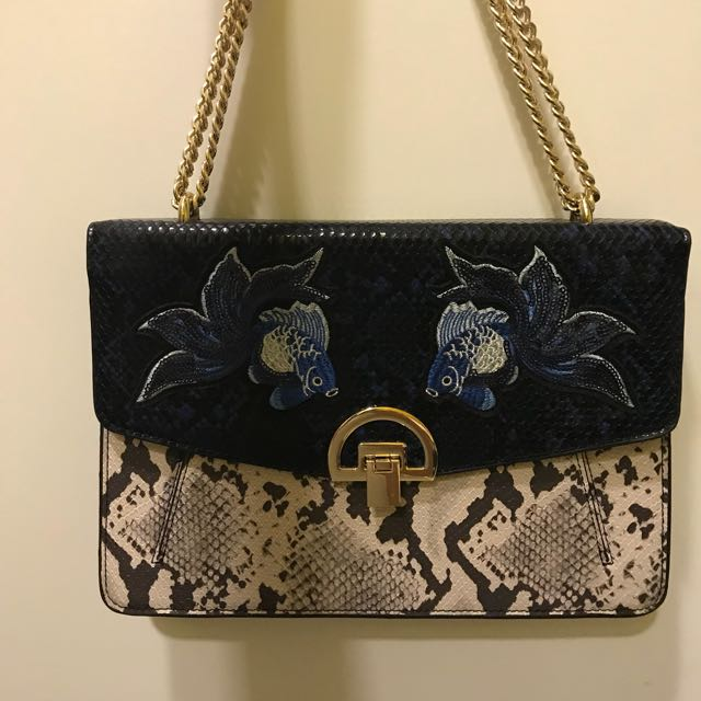 Authentic Mango Sequin Goldfish Handbag Slingbag Original Price