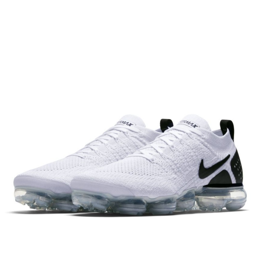 bc7b6646b6377 Authentic Nike AIR VAPORMAX FLYKNIT 2 White   Black