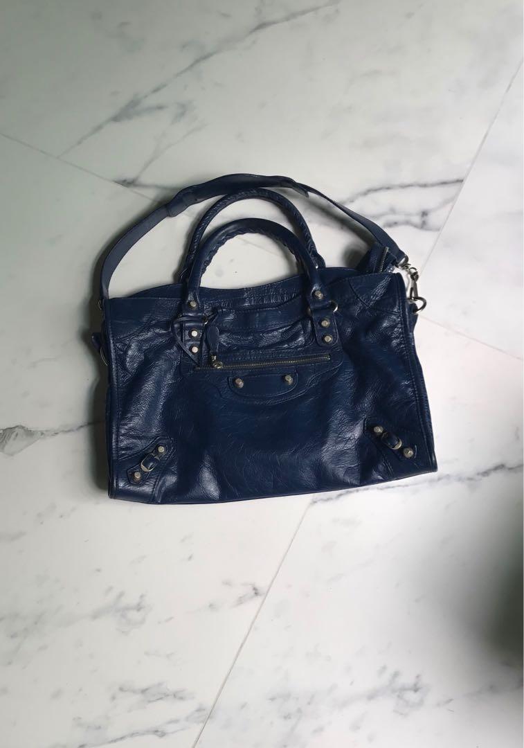 d90a45ff1c BALENCIAGA BLEU MINERAL G12 CITY, Luxury, Bags & Wallets on Carousell