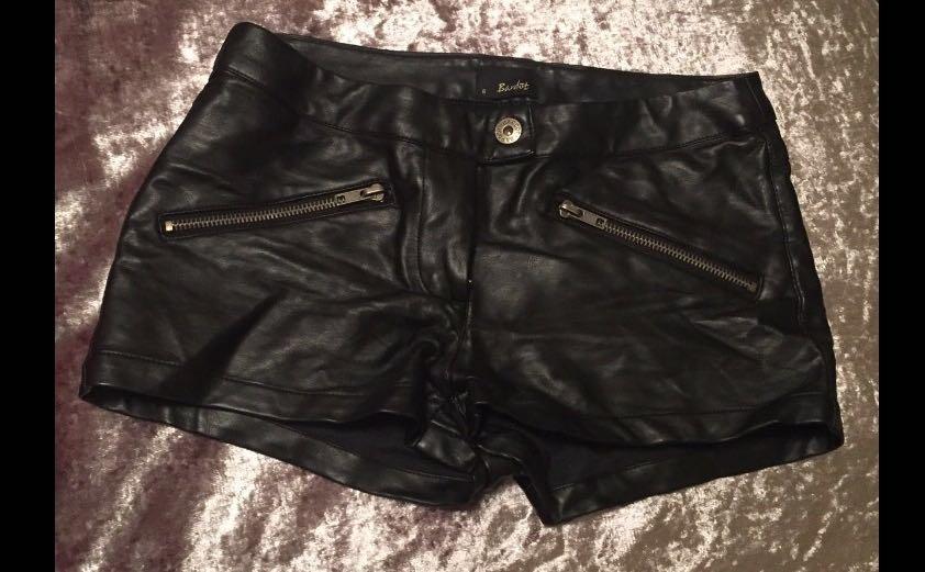 Bardot faux leather hot shorts 🔥