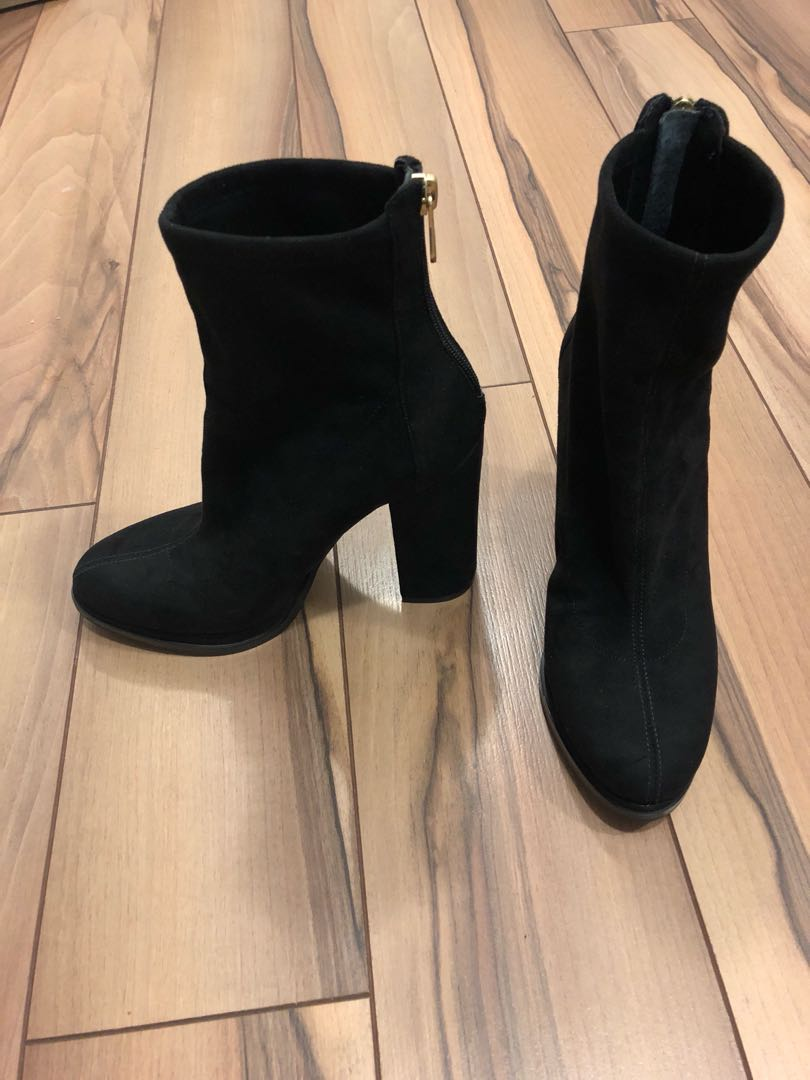 Beautiful black suede booties size 7 from GUESS