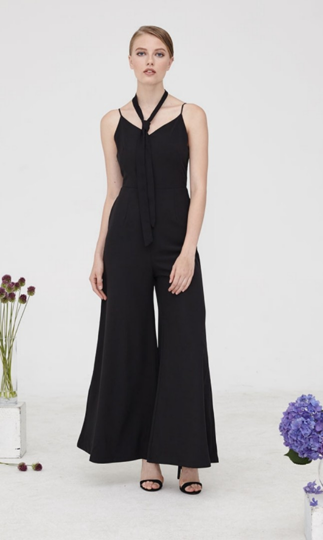 Clothing, Shoes & Accessories Jumpsuits & Rompers Very Stylist Black Pleated Jumpsuit Bnwt High Quality Materials