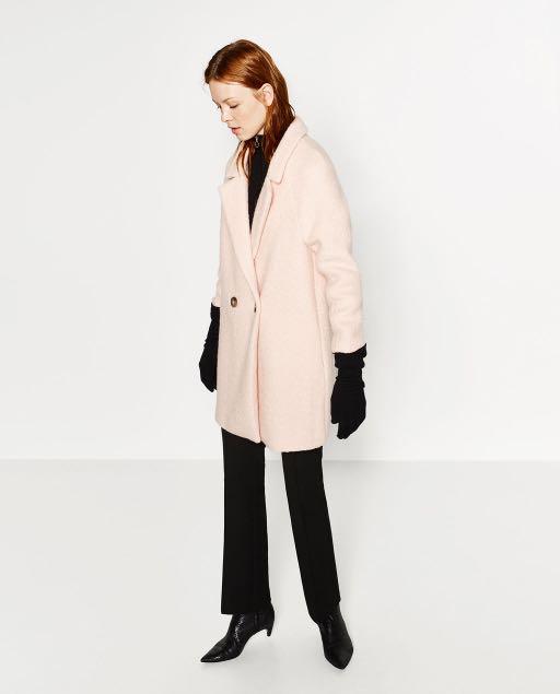 BRAND NEW Zara light pink coat