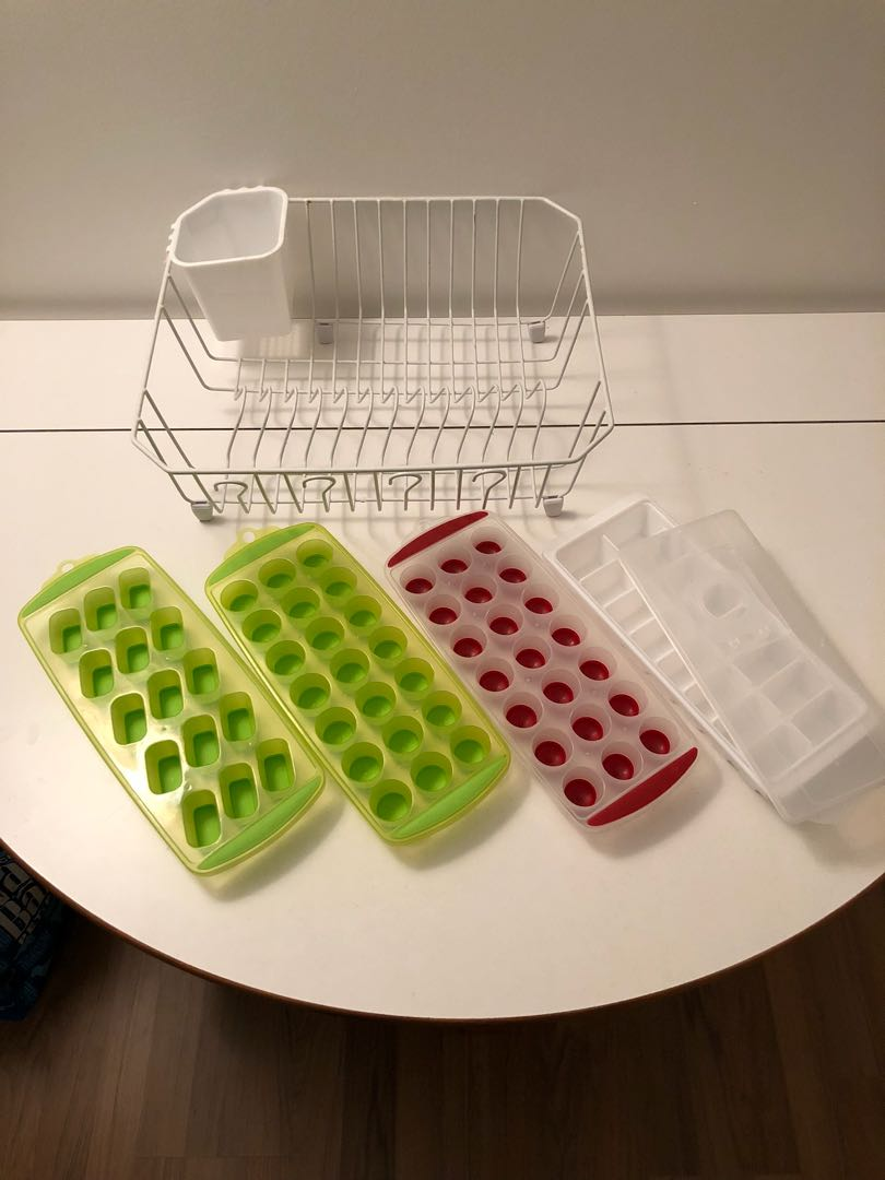 Dish Rack + Ice Trays