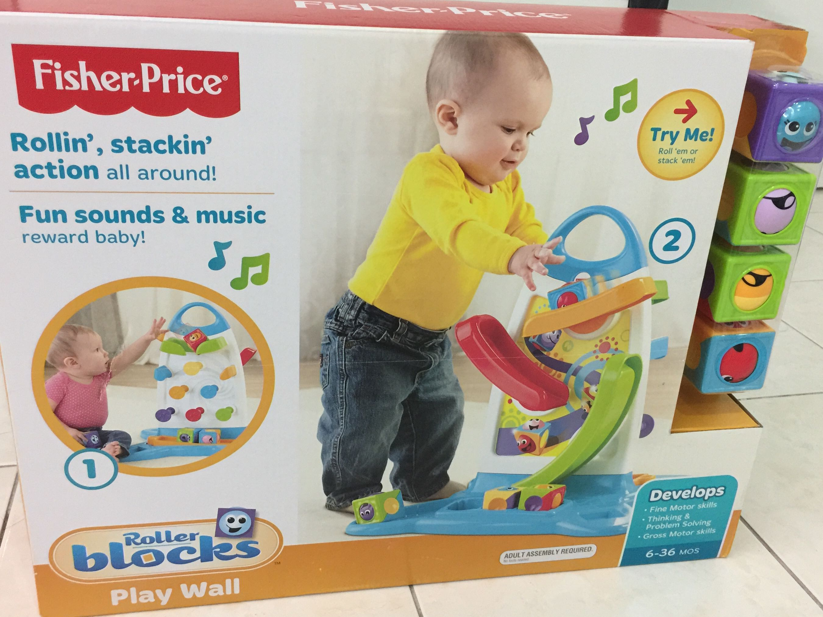Fisher Price Roller Blocks Play Wall Babies Kids Toys Walkers Baby Block On Carousell
