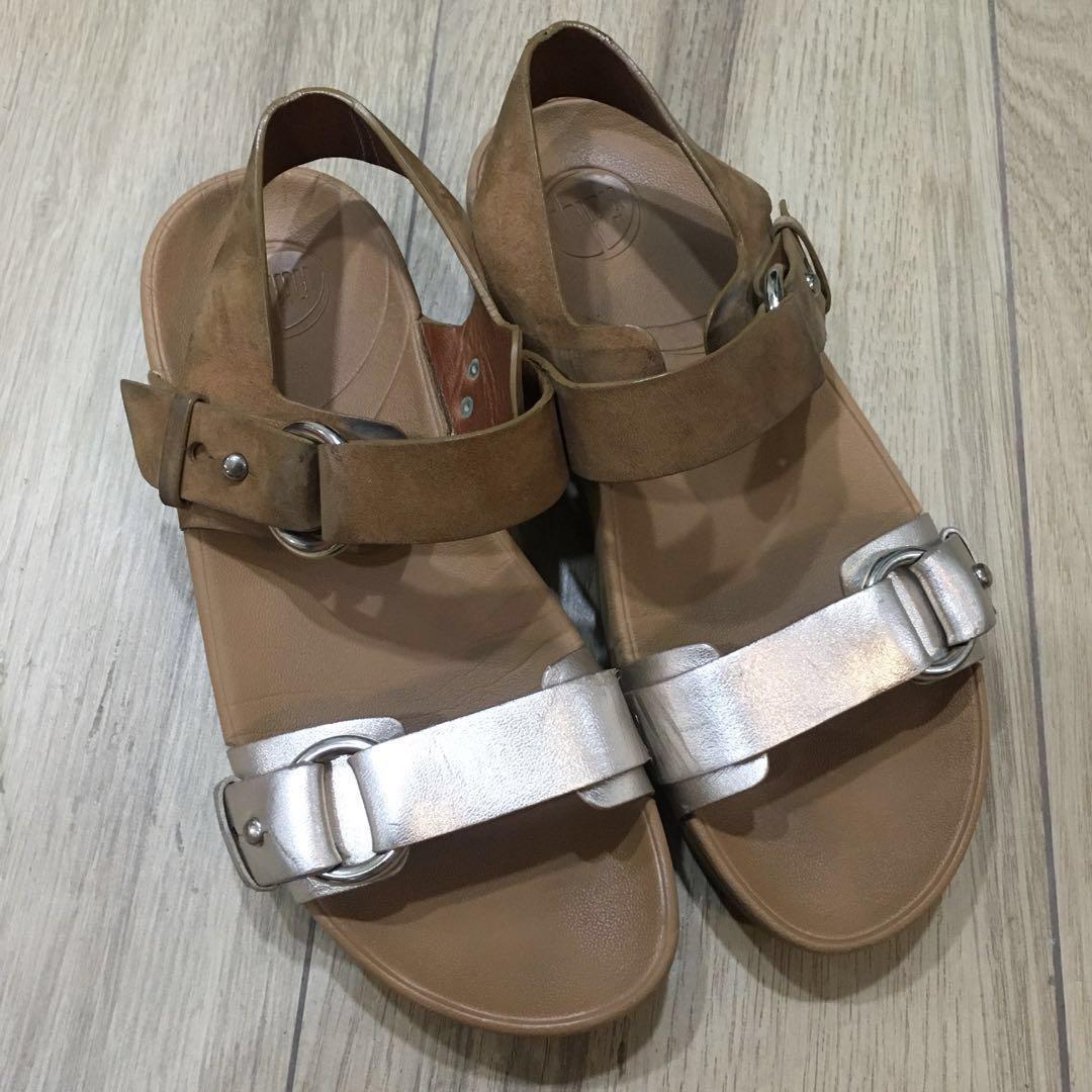 dc94ea378 FITFLOP Via Bar sandal in Platinum Tan