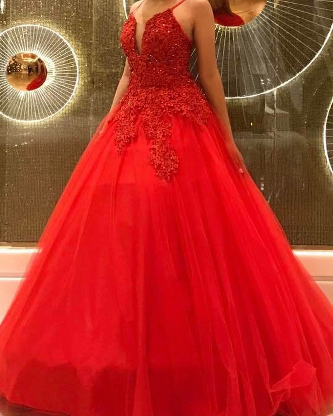 For rent - Red Ball Gown, Women\'s Fashion, Clothes on Carousell