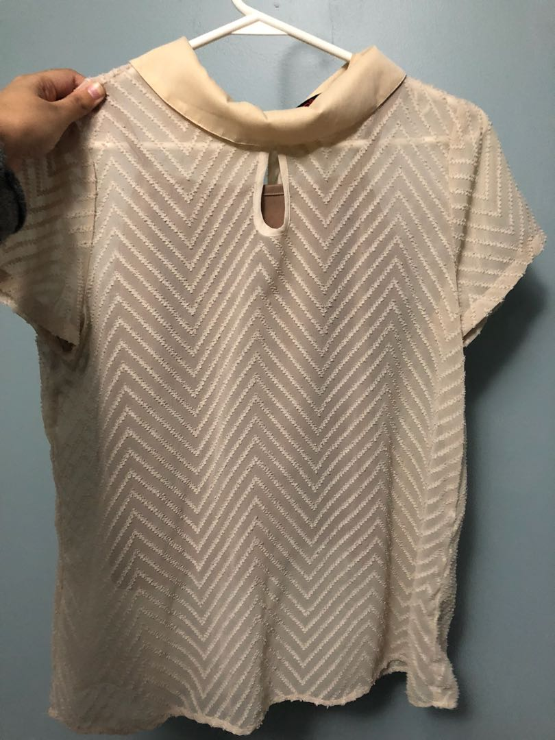 Free Flowing Cream Shirt