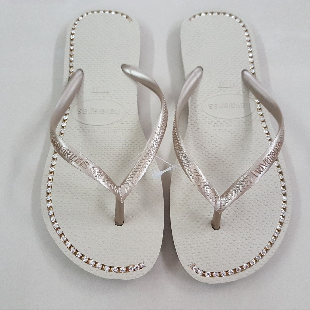 c69d21f6e2c Havaianas Women Slipper   Gold Diamond Flip Flops Sandals Shoes ...