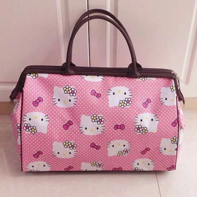 97a75fefca52 Hello kitty gym travel bag